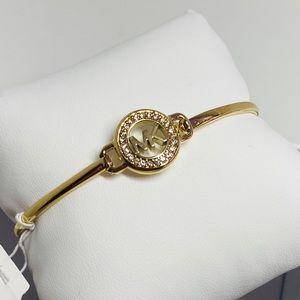 Brand new Michael Kors Logo bracelet gold tone